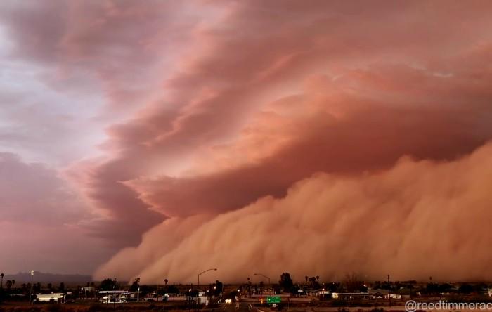 Furtună de nisip în Arizona