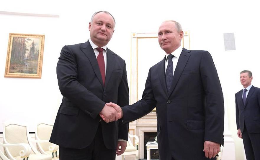 Igor Dodon la întâlnire cu Vladimir Putin, la Moscova 14.07.2018
