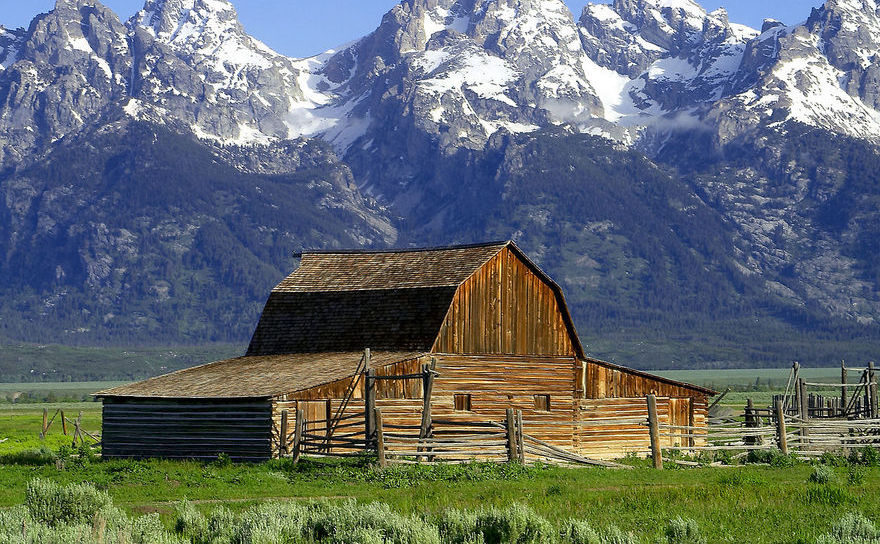 Parcului Naţional Grand Teton, statul american Wyoming
