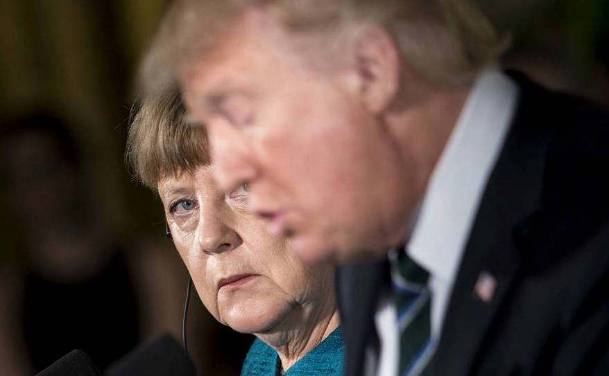 Angela Merkel şi Donald Trump