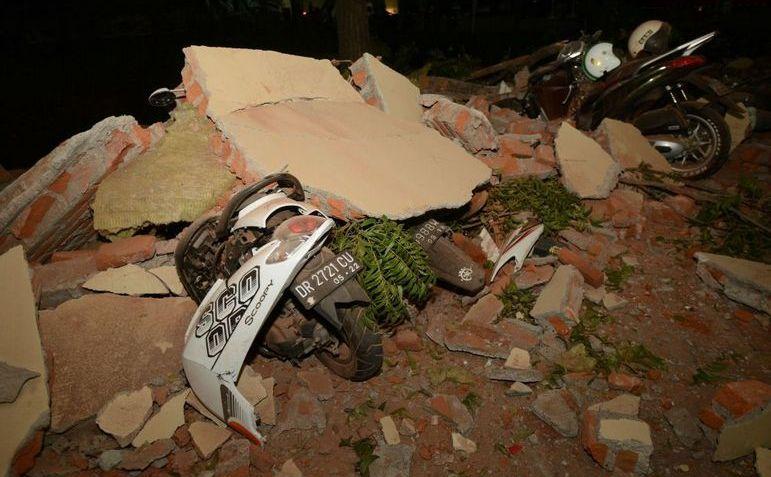 Pagube provocate în capitala insulei indoneziene Bali, Denpasar, de cutremurul masiv care a lovit insula învecinată Lombok în 5 august 2018.