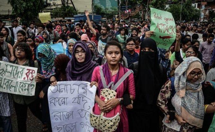 Proteste în capitala Bangladesh-ului, Dhaka