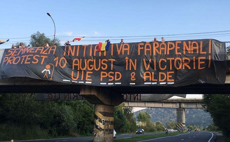 Protest intedit pe DN1