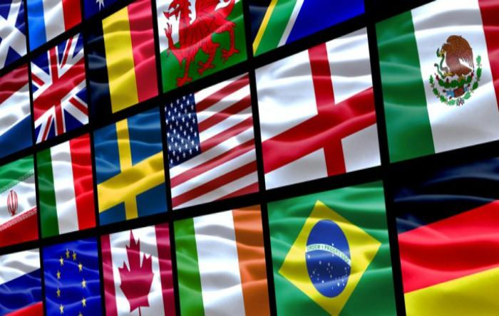 În lume există doar două steaguri care conţin culoarea purpurie şi ambele sunt din America Latină şi Caraibe