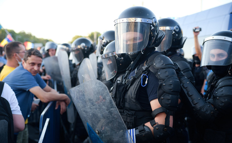 Jandarmi la protest