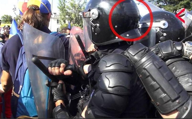 Jandarmi la protestul din 10 august