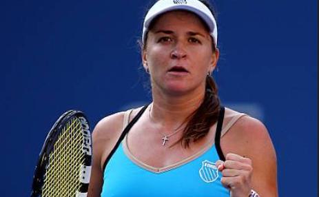Jucătoarea română de tenis Alexandra Dulgheru.