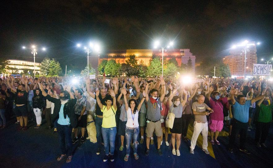 Flashmob în Piaţa Victoriei