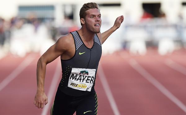 Atletul francez Kevin Mayer.