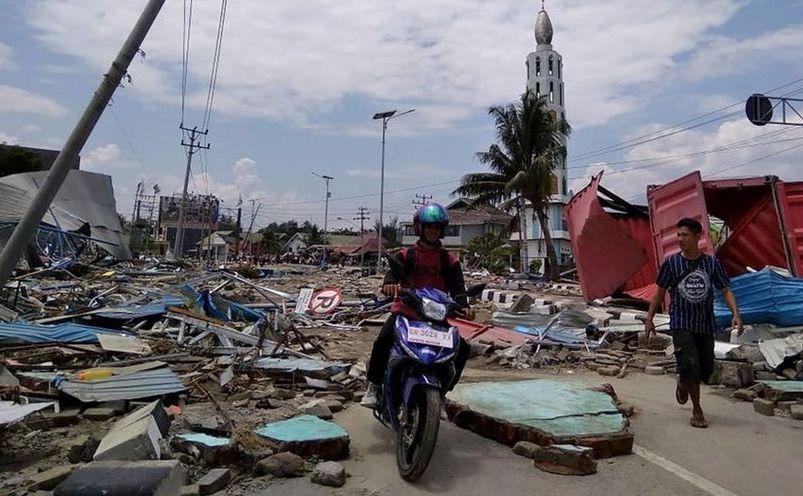 Pagube produse de un tsunami în oraşul Palu, insula indoneziană Sulawesi, 28 septembrie 2018