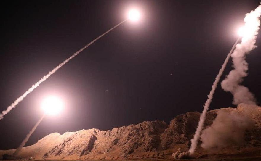 Rachete aparent lansate din Iran asupra Siriei, 1 octombrie 2018