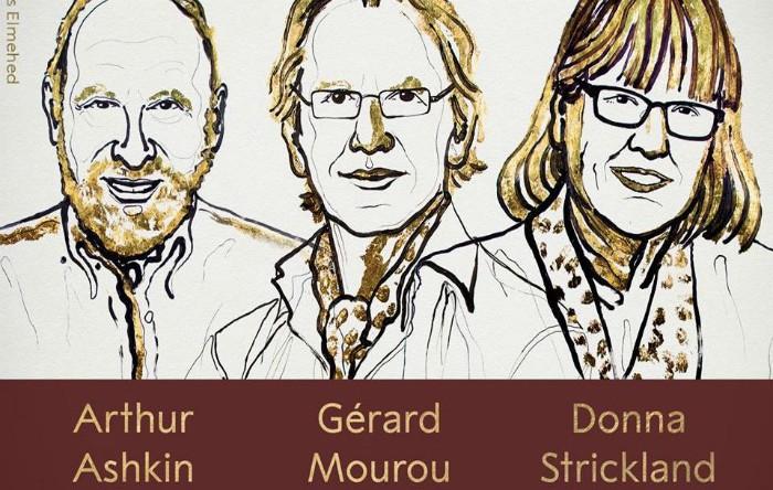 Premiul Nobel pentru Fizică 2018: Arthur Ashkin, Gerard Mourou şi Donna Strickland