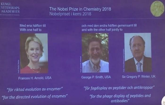 Premiul Nobel pentru Chimie 2018