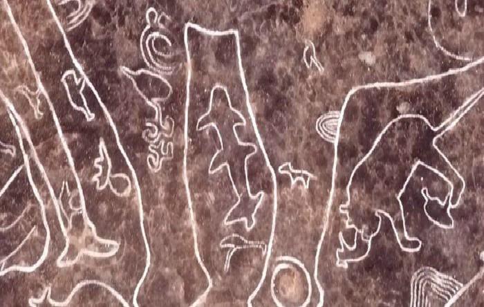 Petroglifele descoperite în India