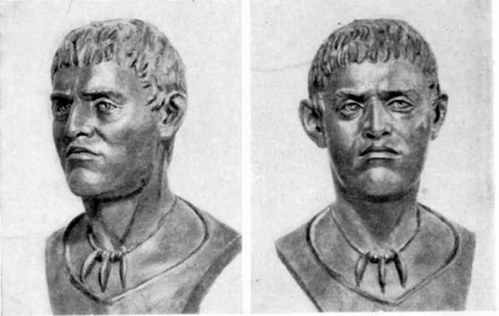 Bărbat din tribul Yamnaya sau Yamna, Sculptural Reconstruction. (ca.1930s)
