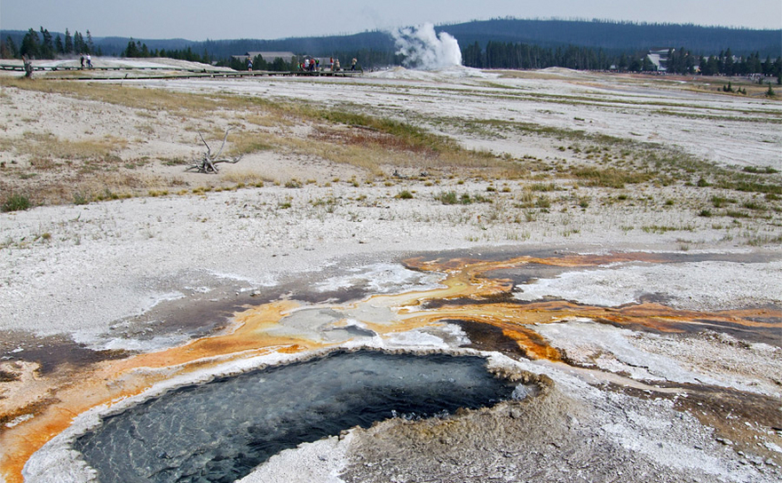 Gheizerul Ear Spring din Parcul Naţional Yellowstone din SUA