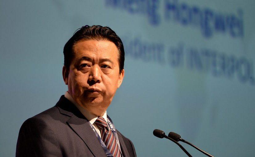 Meng Hongwei, preşedintele Interpol, la un congres din Singapore, 2017