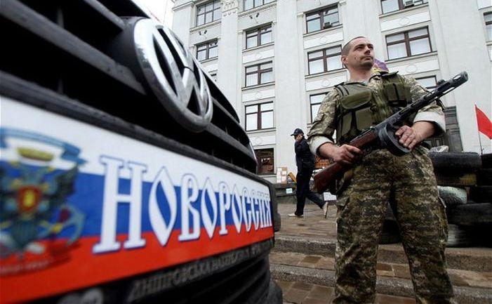 Separatist pro-rus in oraşul Lugansk, estul Ucrainei