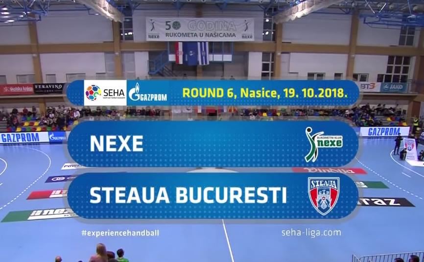 Steaua Bucureşti a fost învinsă de formaţia  croată RK Nexe cu scorul de 28-23 (12-11).