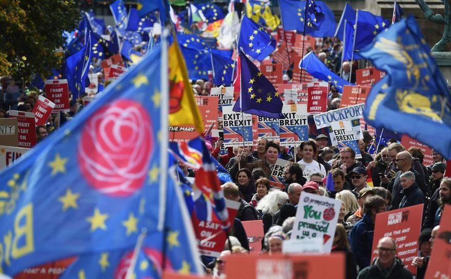 Marş pentru organizarea unui referendum privind termenii Brexitului, Londra, 20 octombrie 2018