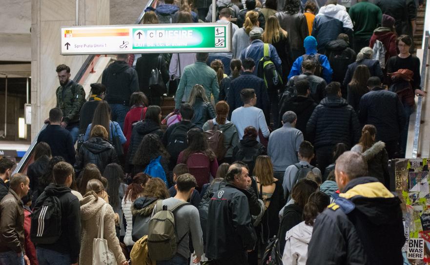 Aglomeraţie la metrou