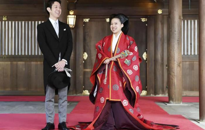 Prinţesa Ayako împreună cu Kei Moriya în Meiji Shrine din Tokyo, 29 octombrie 2018