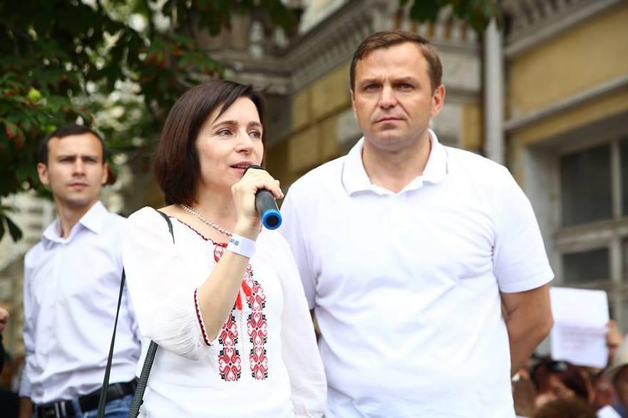 Maia Sandu şi Andrei Năstase
