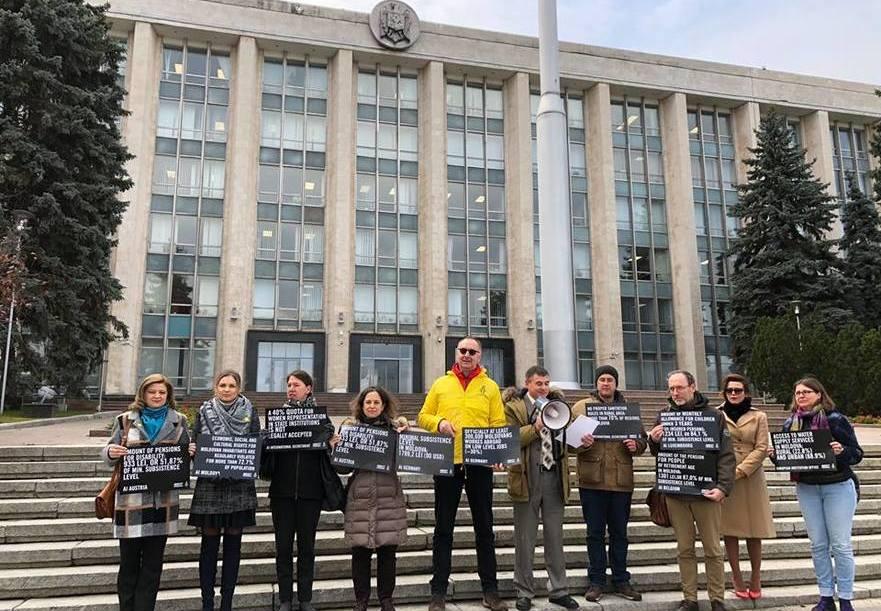 Protestul Amnesty Moldova la Guvern, 16.11.2018