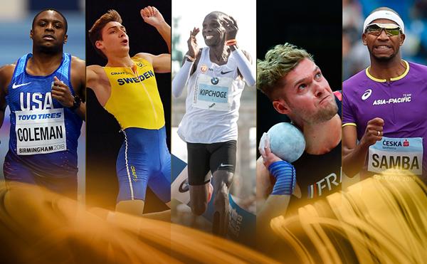 Sportivii nominalizaţi de IAAF pentru titlul de cel mai bun atlet al anului 2018.