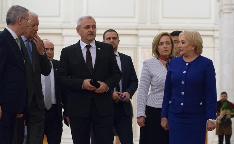 Liviu Dragnea, Carmen Dan, Viorica Dăncilă, Teodor Meleşcanu