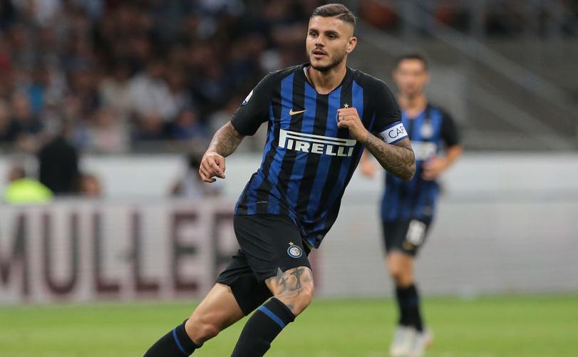 Atacantul argentinian Mauro Icardi, căpitanul echipei Inter Milano.