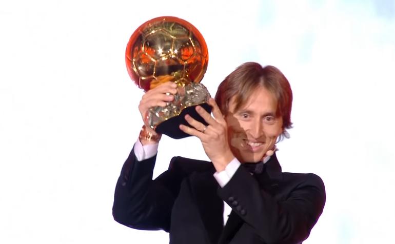 Croatul Luka Modric, câştigătorul ediţiei 2018 a trofeului 'Balonul de Aur'.