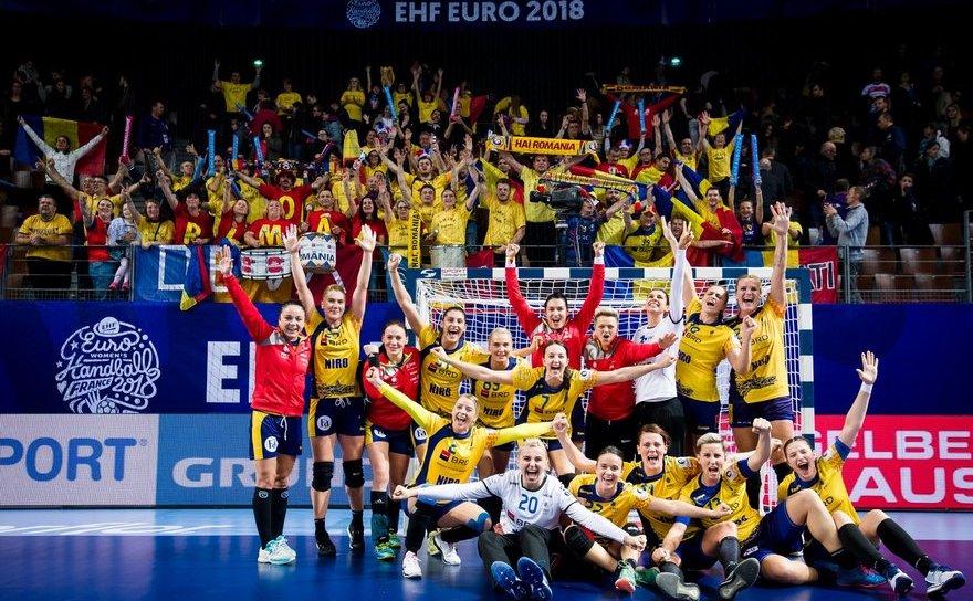 Echipa naţională de handbal feminin a României.