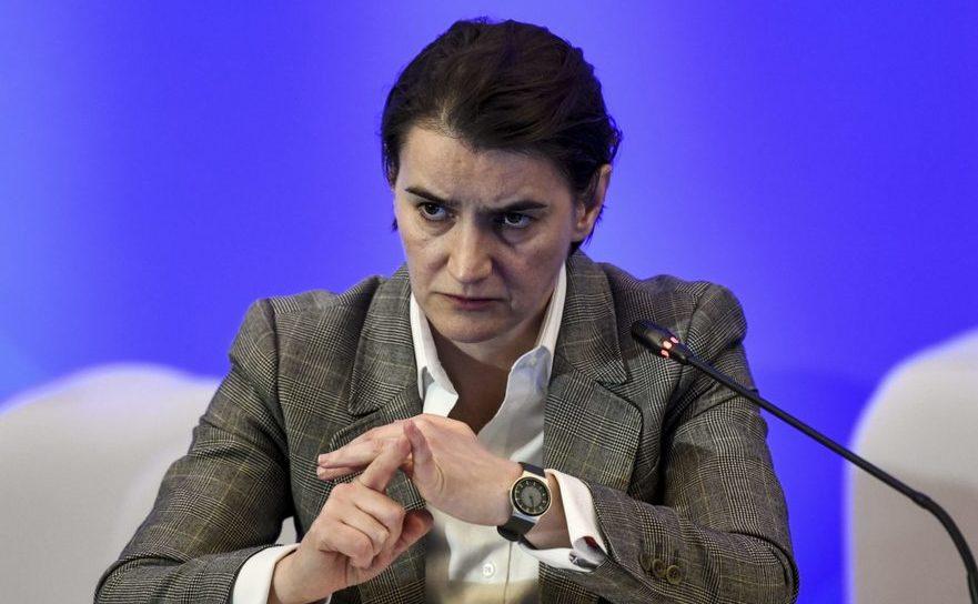 Premierul sârb Ana Brnabic