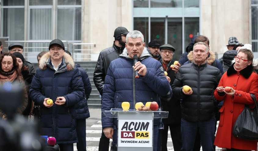 Protest ACUM la Guvernul R. Moldova în susţinerea producătorilor de mere, 10.12.2018
