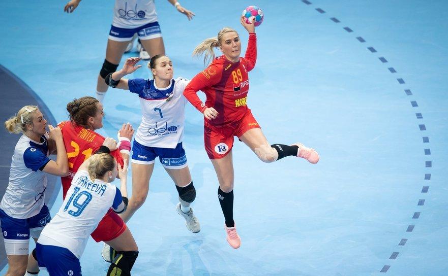 România - Rusia 22-28 (15-16), în semifinalele Campionatului European din Franţa.