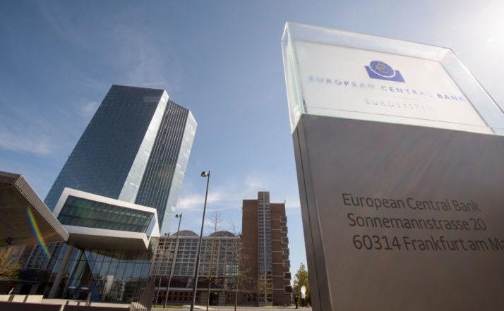 Sediul Băncii Centrale Europene din Frankfurt am Main, Germania