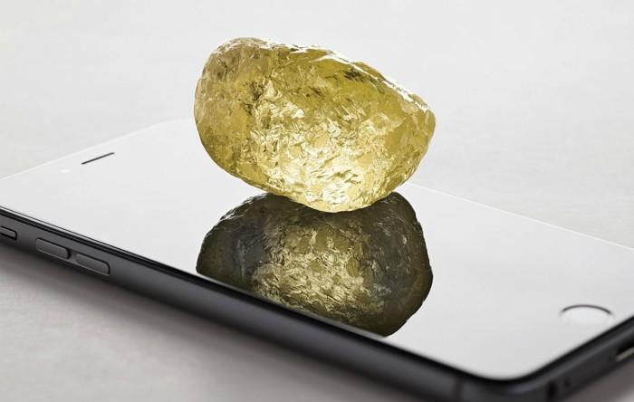 Diamant galben brut de 552 carate descoperit în Diavik Diamond Mine, Canada
