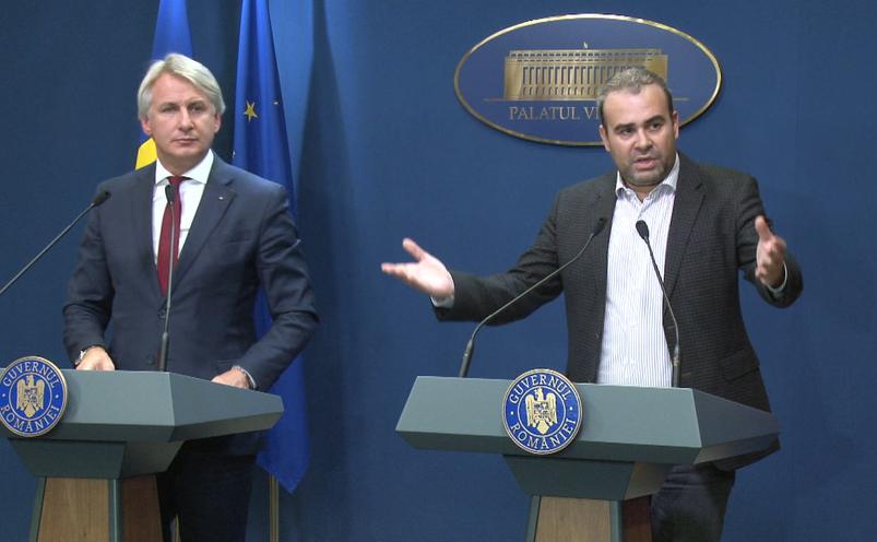 """Darius Vâlcov şi Eugen Teodorovici, declaraţii de presă după adoptarea """"Ordonanţei Lăcomiei"""""""