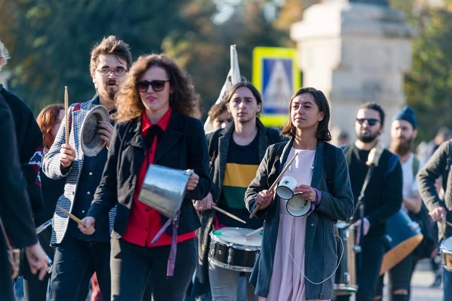Activiştii Mişcării Occupy Guguţă din R. Moldova