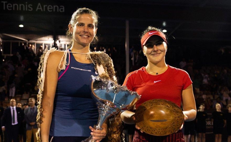 Julia Görges şi Bianca Andreescu, finalistele ediţiei 2019 a turneului WTAde la Auckland.