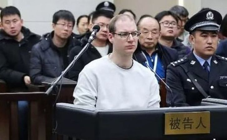 Cetăţeanul canadian Robert Schellenberg în timpul procesului său în China