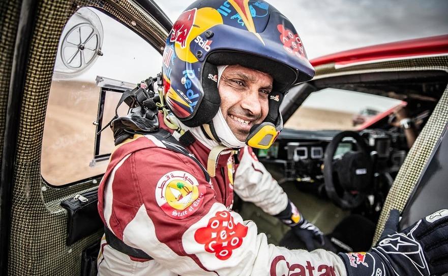 Pilotul qatarian Nasser Al-Attiyah.