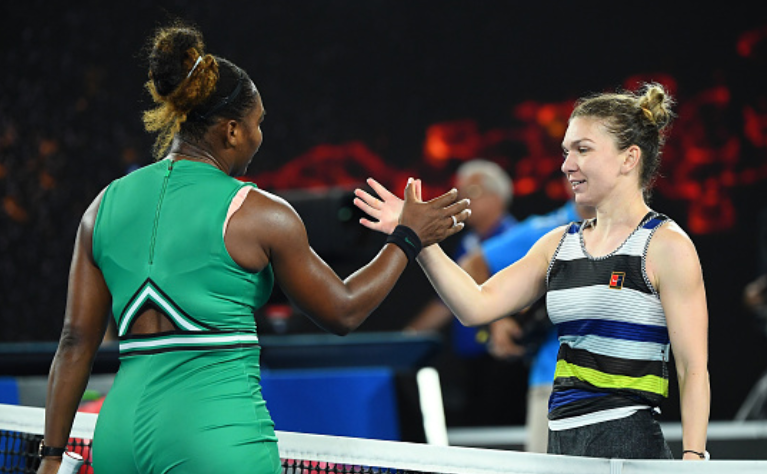 Simona Halep şi Serena Williams la Australian Open.
