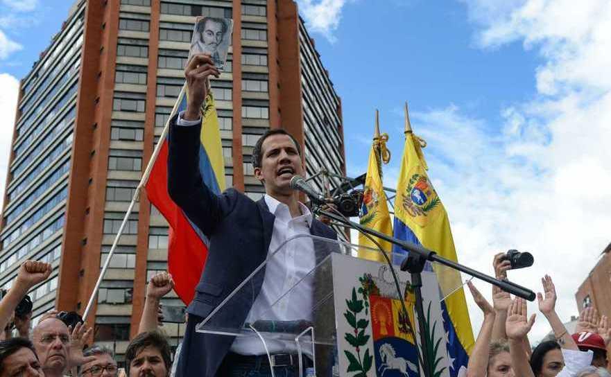 Juan Guaido, la un miting al opoziţiei