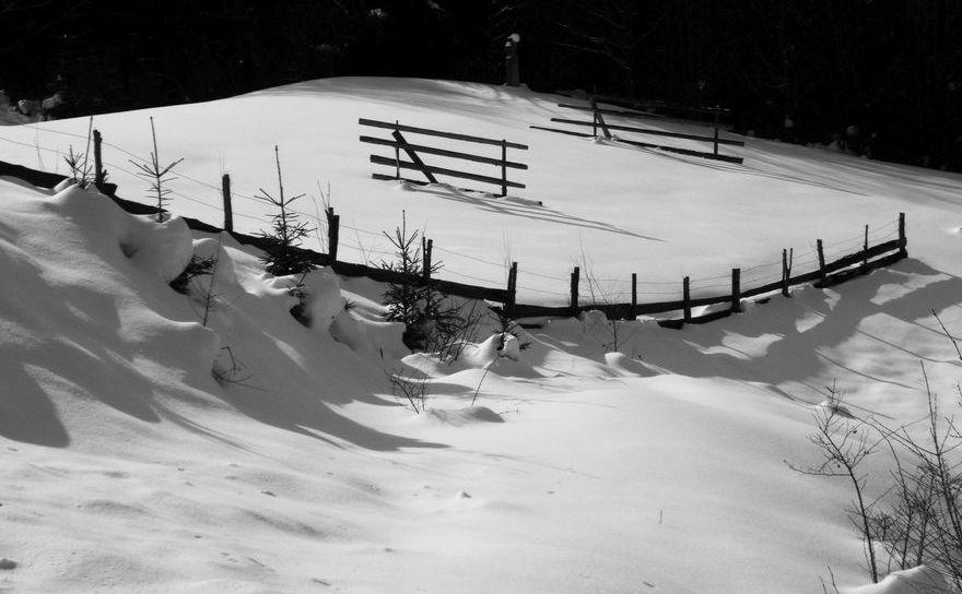 Peisaj de iarna romanesc.