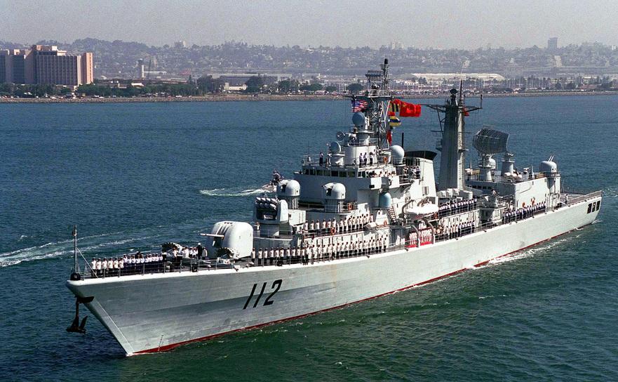 Distrugătorul chinez DDG 112 Harbin din clasa Type 052 Luhu-class