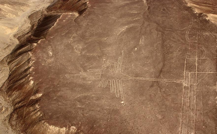 Descoperite în anii 1920, Liniile Nazca sunt foarte vizibile din aer.