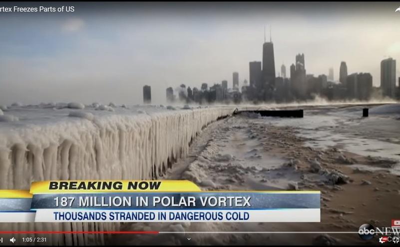 O parte a USA se confrunta cu un vortex polar care a paralizat viaţa oraşelor din vestul Americii.