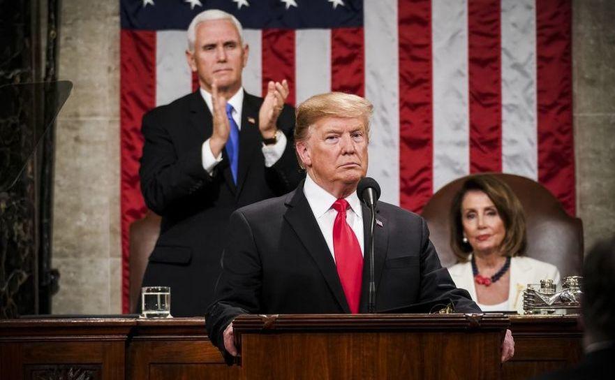 Preşedintele american Trump susţine discursul său despre Starea Naţiunii în Congresul SUA, 5 februarie 2019